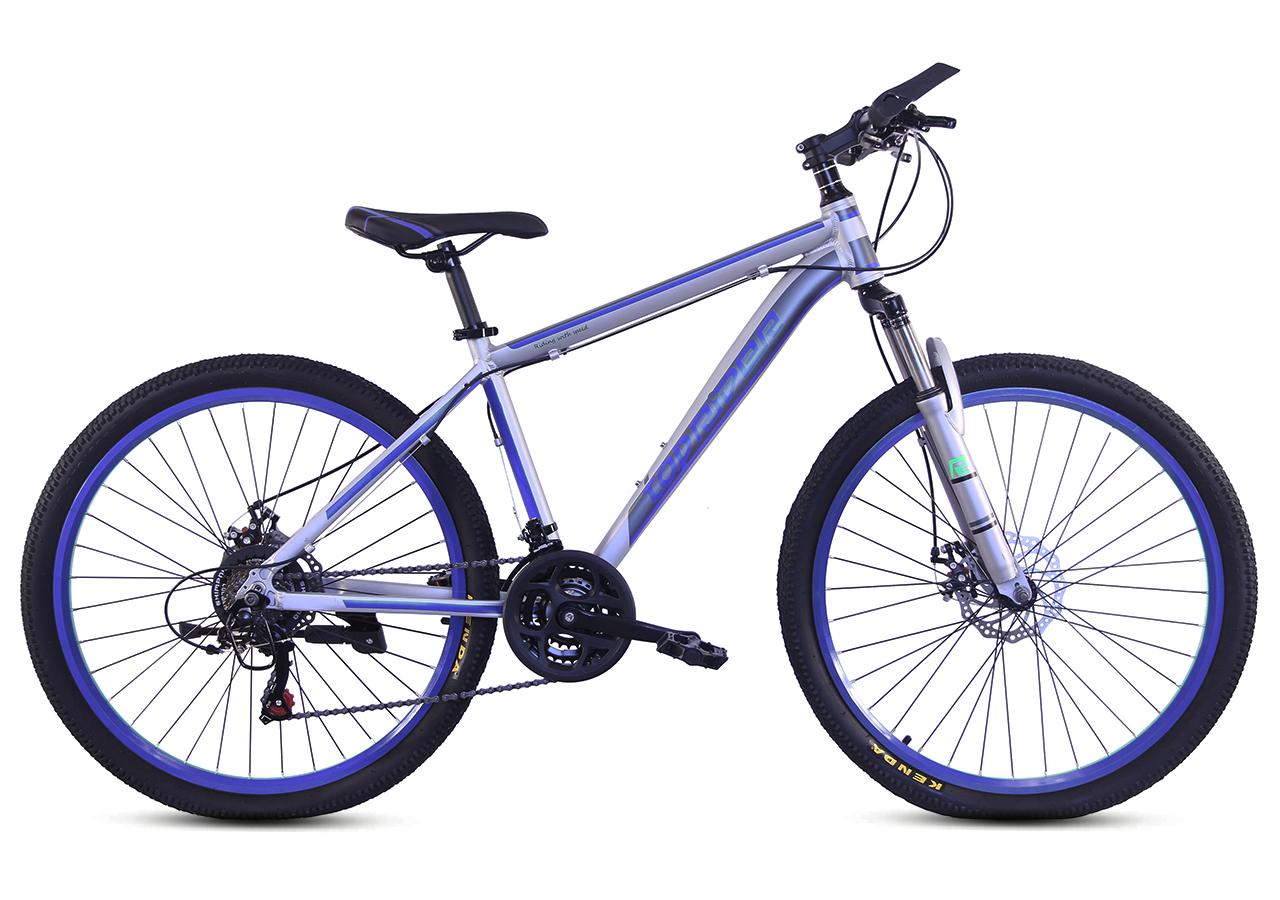 """Горный велосипед TopRider 424 26"""" алюминиевый, Серо-синий"""