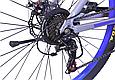 """Горный велосипед TopRider 424 26"""" алюминиевый, Серо-синий, фото 5"""