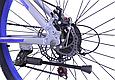 """Горный велосипед TopRider 424 26"""" алюминиевый, Серо-синий, фото 7"""