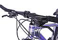 """Горный велосипед TopRider 424 26"""" алюминиевый, Серо-синий, фото 8"""