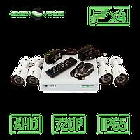 Комплект 4 уличных AHD камеры, 1 Mp (1280х720), HD - Green Vision GV-K-G02/04 720Р