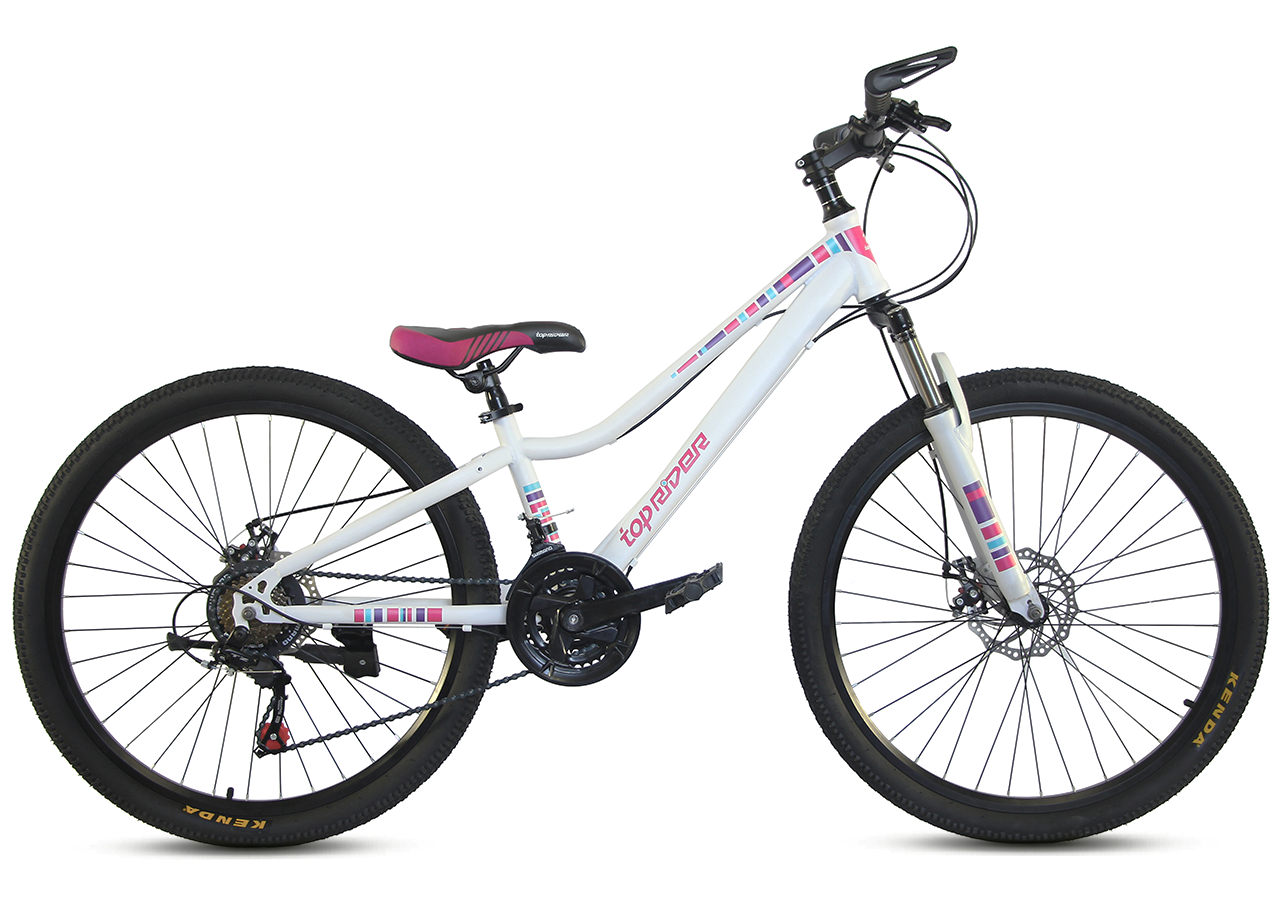 """Горный велосипед TopRider 900 26"""" Белый/Розовый"""