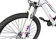 """Горный велосипед TopRider 900 26"""" Белый/Розовый, фото 6"""