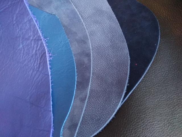 Кожа натуральная Синие оттенки