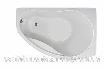PROMISE ванна асимметричная 150*100 см, правая, белая, с ножками SN7