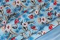 Ткань коттон летний, стрейч  №338 нежно голубой , фото 1