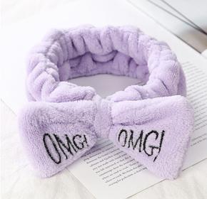 Повязка на голову косметологическая снежная сирень  OMG, фото 2