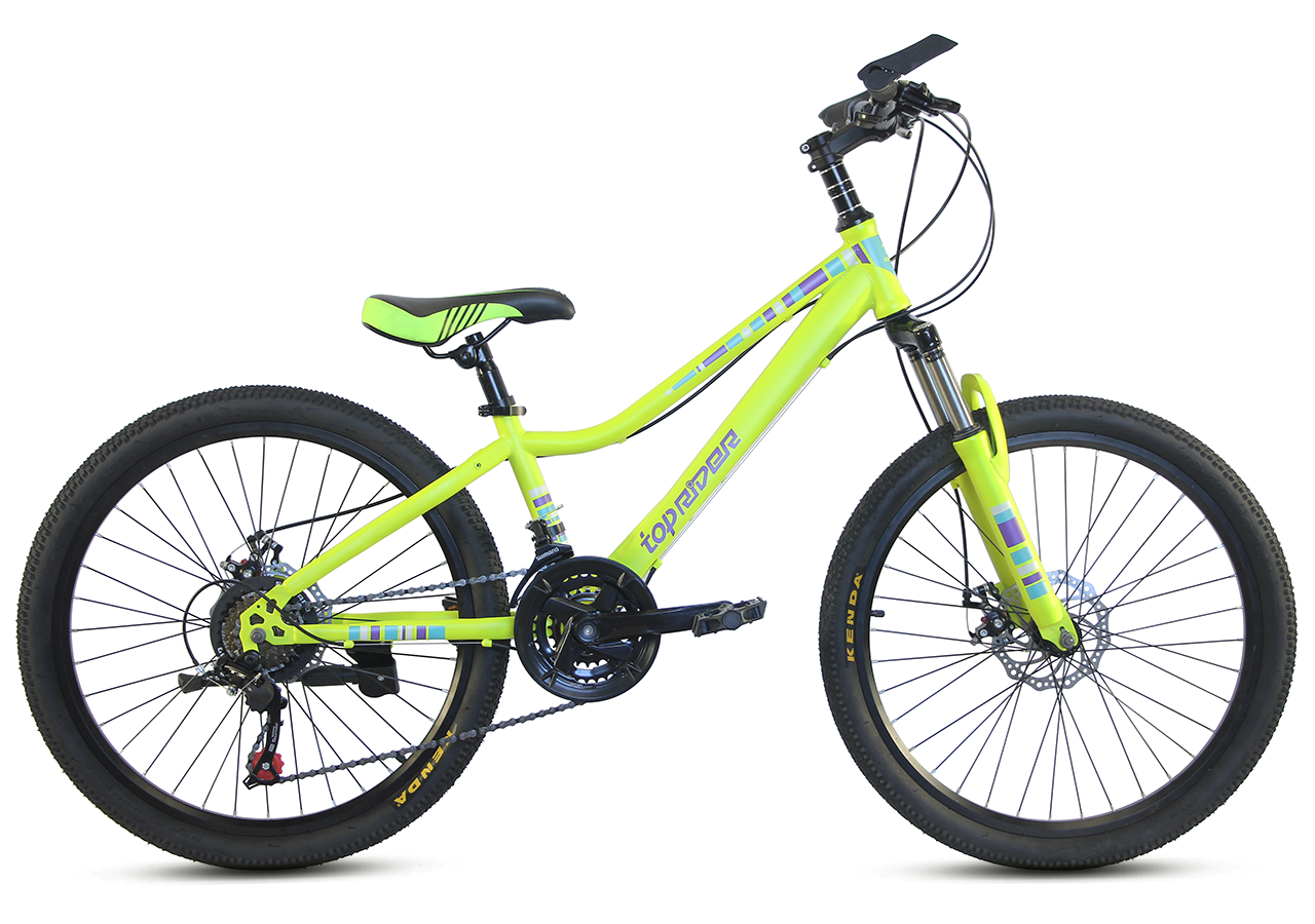 """Подростковый велосипед TopRider 900 24""""  Лимонный"""