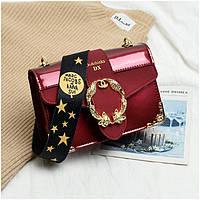 Маленькая женская лаковая сумка Marc Jacobs красная, фото 1