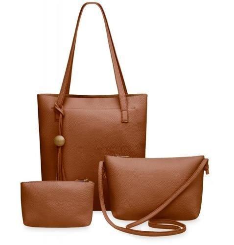Набір жіночих сумок 3в1 коричневі