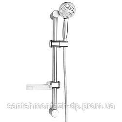 Штанга душевая L-64 см, мыльница, Душ ручной 1 режим, шланг, блистер
