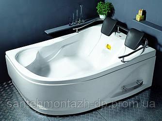 Ванна угловая без гидромассажа 1800*1240*660 мм, правая, (рама + ножки + лицевая панель)