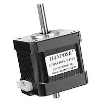 HANPOSE17HS4401S-D150SДвойнойвал48мм Nema 17 Степпер Мотор 42 Мотор 42BYGH 1.6A 45N.cm 4-выводный для 3D-принтера с ЧПУ Лазер - 1TopShop