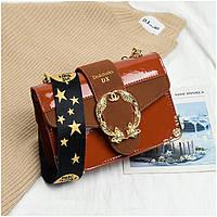 Маленькая женская лаковая сумка Marc Jacobs рыжая, фото 1