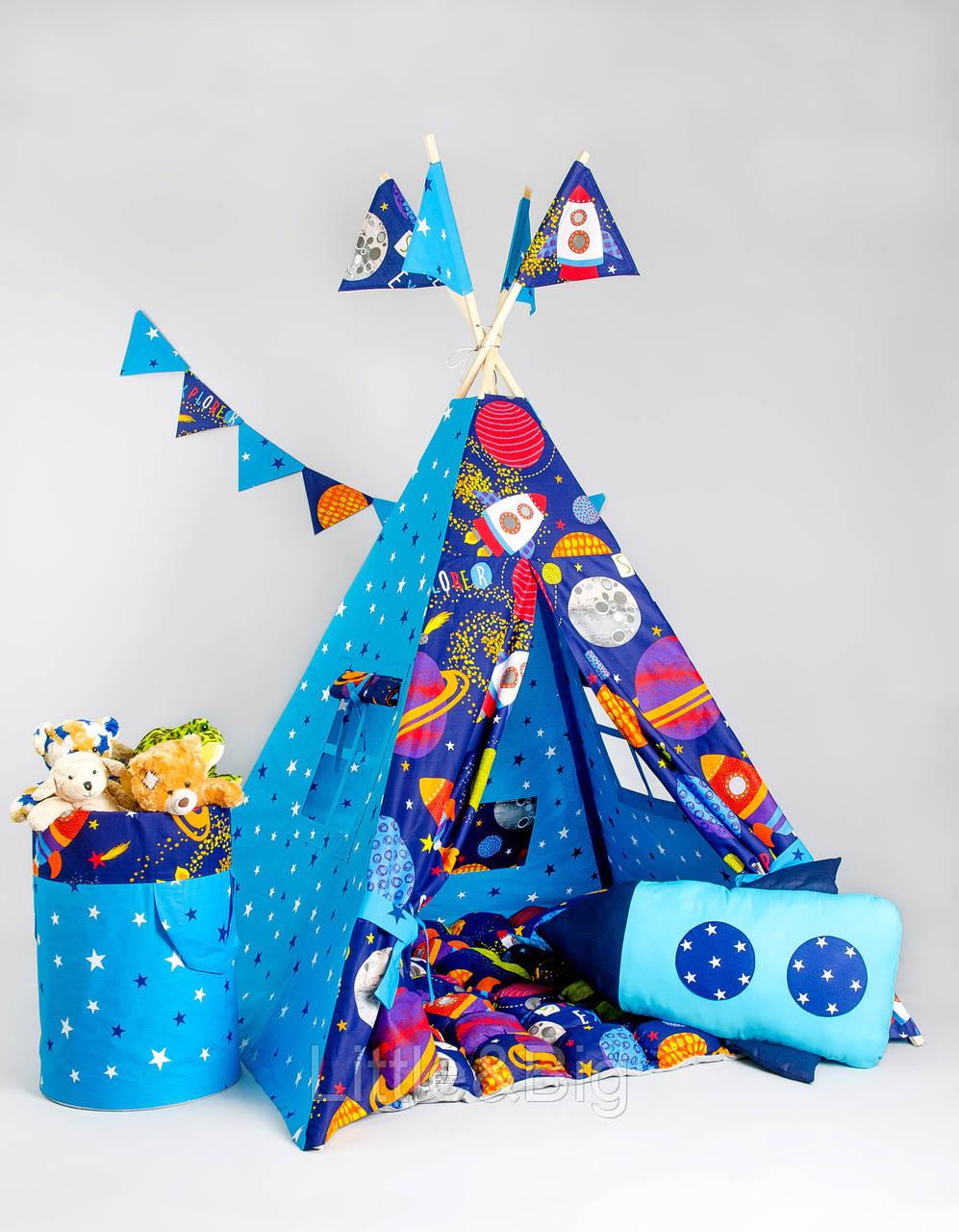 Вигвам - палатка  «Космос» с ковриком-бомбонами