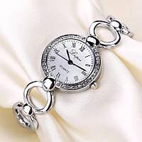 Красивые женские наручные часы, серебристые