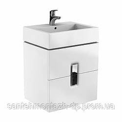 TWINS шкафчик под умывальник 60 см с двумя ящиками, белый глянец