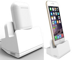 Док станция for AirPods & iPhone (white)