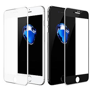 Защитное стекло Silicone Edge Apple iPhone 6/6S Plus (white)