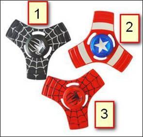 Fidget Spinner DK-Case triple blades Marvel (02)