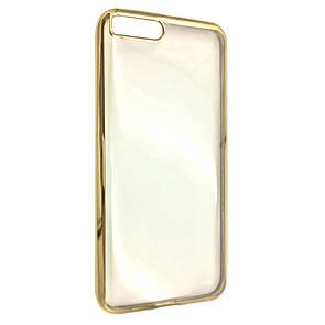 Чехол-накладка DK-Case силикон с хром бортом для Xiaomi Mi 6 (gold)