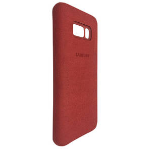 Чехол кожа Alcantara cover Samsung S8 Plus (red)