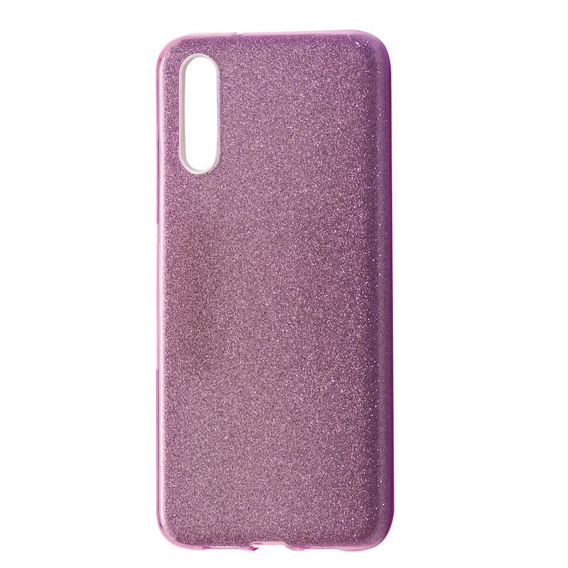 Чехол Silicone Glitter Heaven Rain Huawei P20 (pink)