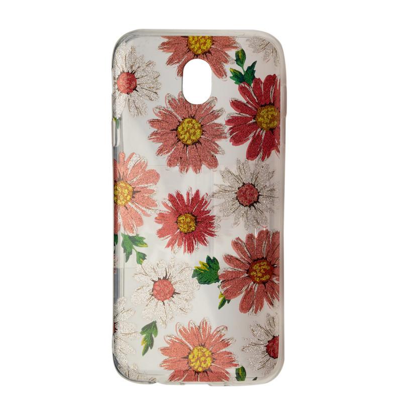 Чехол Summer Flower Samsung J730 (2017) (clear)