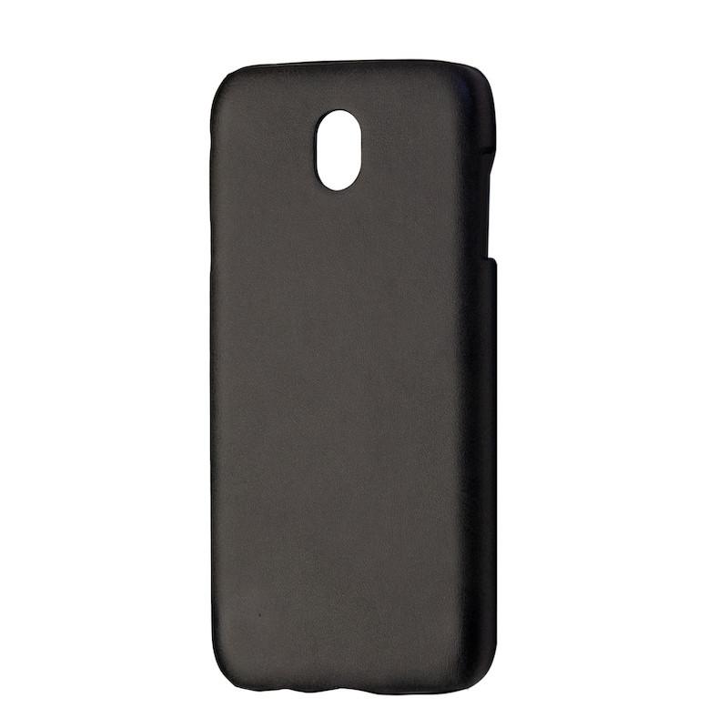Чехол кожа открытая Samsung J330 (2017) (black)