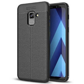 Чехол-накладка DK-Case силикон под кожу Autofocus TPU для Samsung A8 Plus (black)