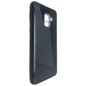 Чехол-накладка DK-Case Silicone Glitter Heaven Rain для Samsung A8 Plus (dark)