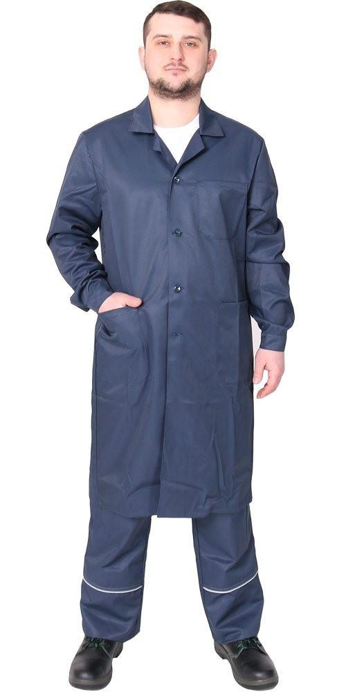 Спецодежда мужской рабочий халат с длинным рукавом (грета)