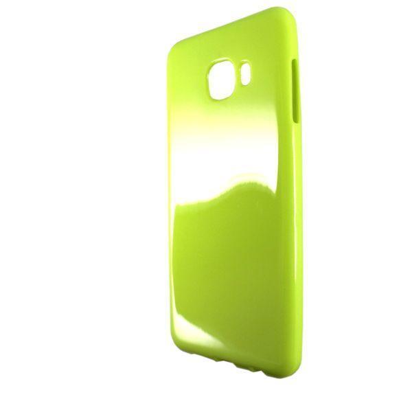 Чехол глянец Ртутный Samsung C5 (light green)
