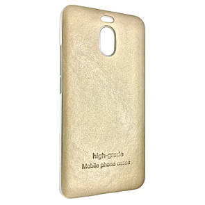 Чехол-накладка DK-Case силикон кожаная наклейка для Meizu M6 Note (gold)