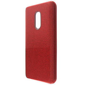 Чехол-накладка DK-Case Silicone Glitter Heaven Rain для Xiaomi Redmi Note 4 / 4X (red)