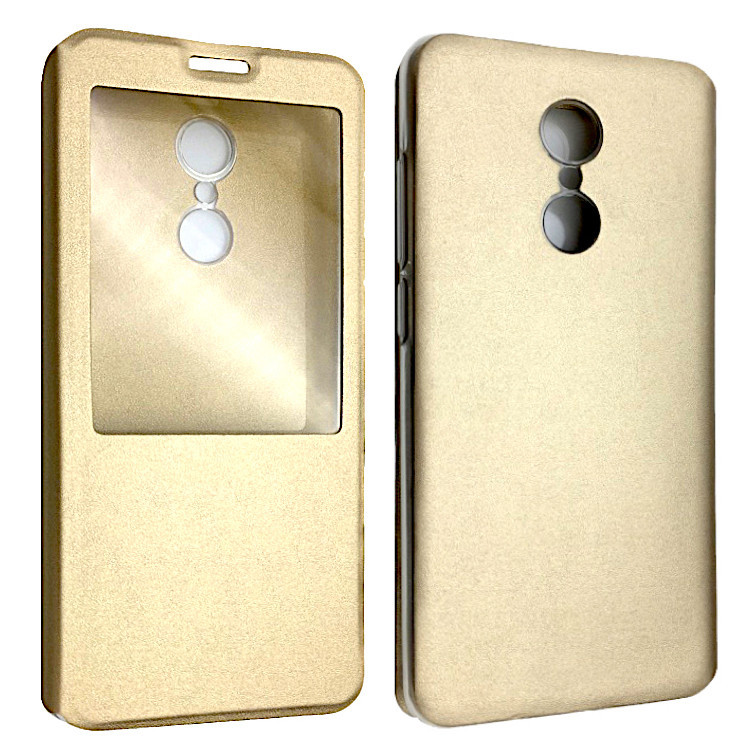 Чехол -книжка силиконе Xiaomi Redmi 5 (gold)