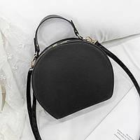 Женская маленькая полукруглая сумка черная, фото 1