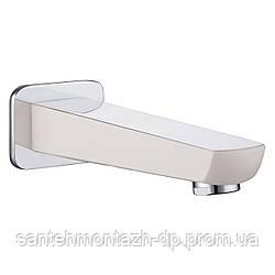 BRECLAV излив для смесителя скрытого монтажа для ванны , хром/белый