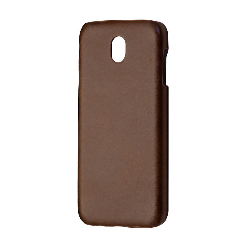 Чехол кожа открытая Samsung J330 (2017) (brown)