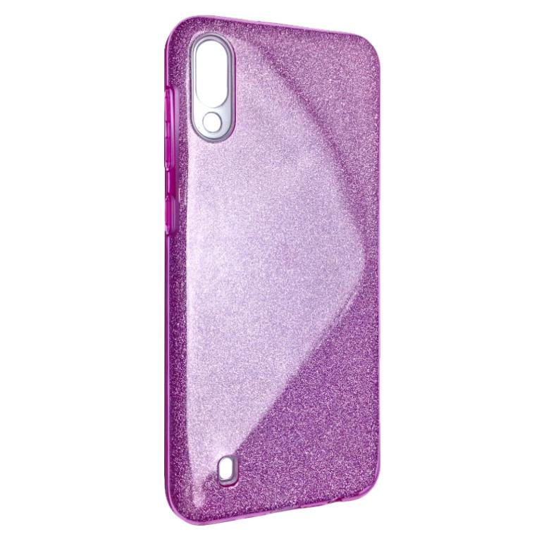 Чехол Silicone Glitter Heaven Rain Samsung M10 (pink)