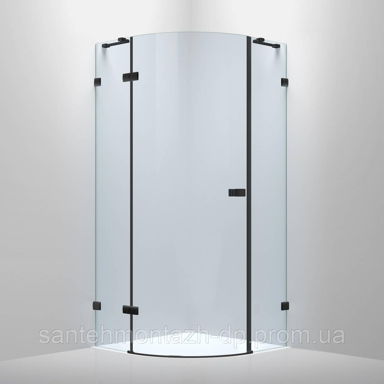 De la Noche Душевая кабина угловая 900*900*2000мм (стекла+двери), левая, распашная, стекло прозрачное 8мм с Nano покрытием