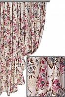 Ткань в стиле прованс, рисунок крупные цветы
