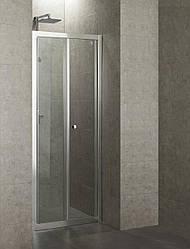 Дверь bifold 90*195, профиль хром, стекло прозрачное 5 мм