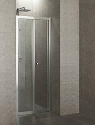 Дверь bifold 80*195, профиль хром, стекло прозрачное 5 мм