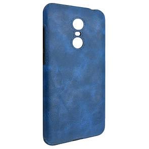 Чехол кожа Sitched Xiaomi Redmi 5 Plus (blue)