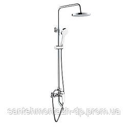 VELUM система душевая (смеситель для ванны, верхний и ручной душ)