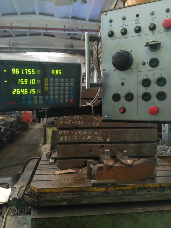 Установка оптических линеек и цифровой индикации DELOS DS-3V на координатно-расточной станок 2А622