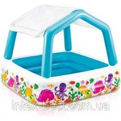 """Детский надувной бассейн со съемным навесом """"Аквариум"""" Intex 57470, фото 2"""