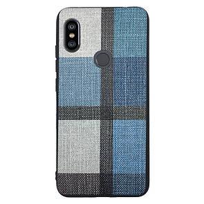 Чехол Fabric Print Xiaomi Redmi Note 6 Pro (blue)