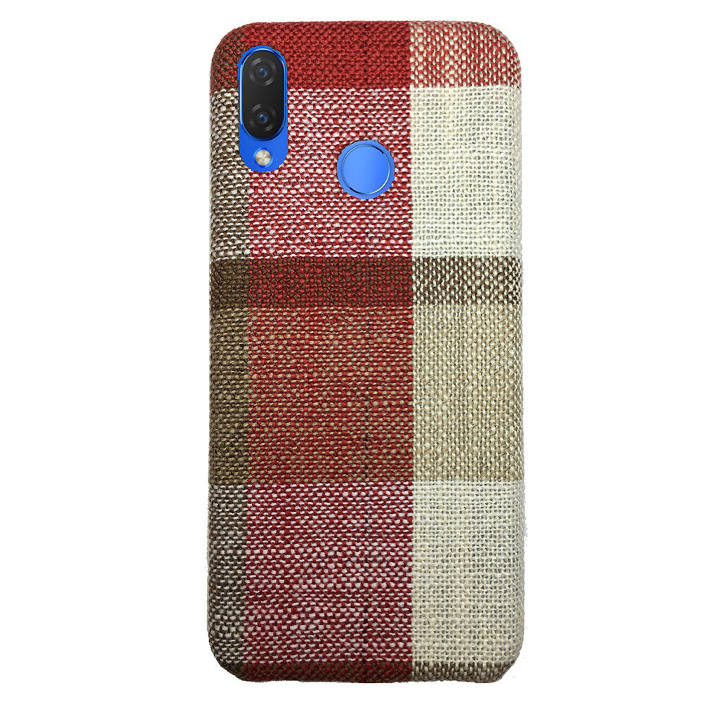 Чехол Fabric Square Huawei P Smart Plus (red)